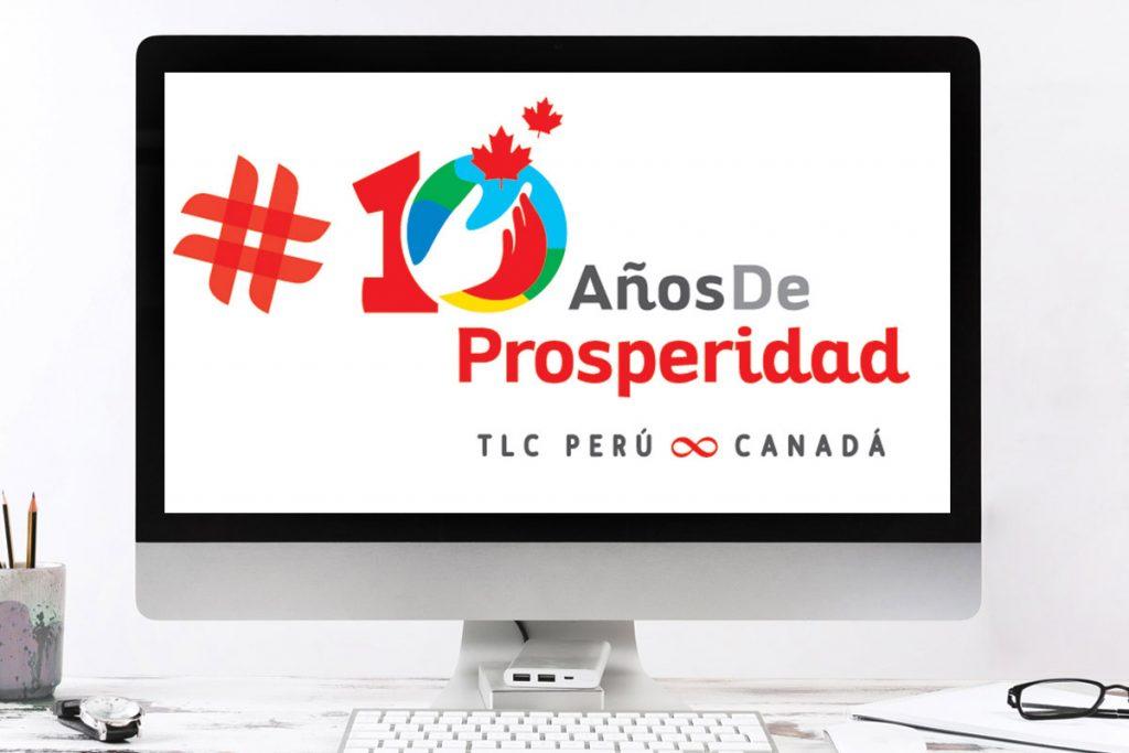 Logo con motivo del TLC, Perú – Canadá (Embajada de Canadá)