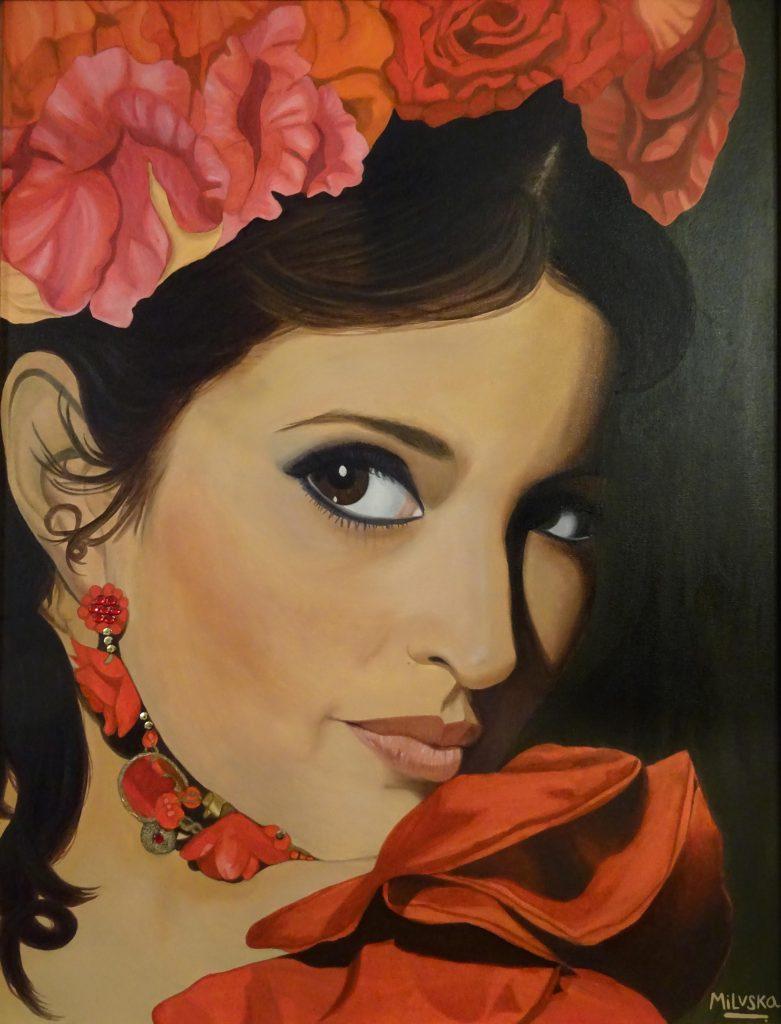 Alma gitana (óleo sobre lienzo)